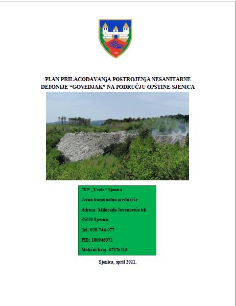 Plan prilagođavanja postrojenja nesanitarne deponije